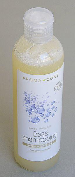 Shampoing huiles essentielles base neutre aroma zone