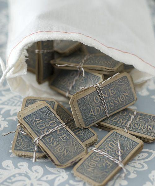 vintage tickets. www.papiervalise.com