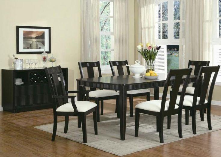 Minimalist Dining Room Furniture Sets With Hard Wood Floor Decorating