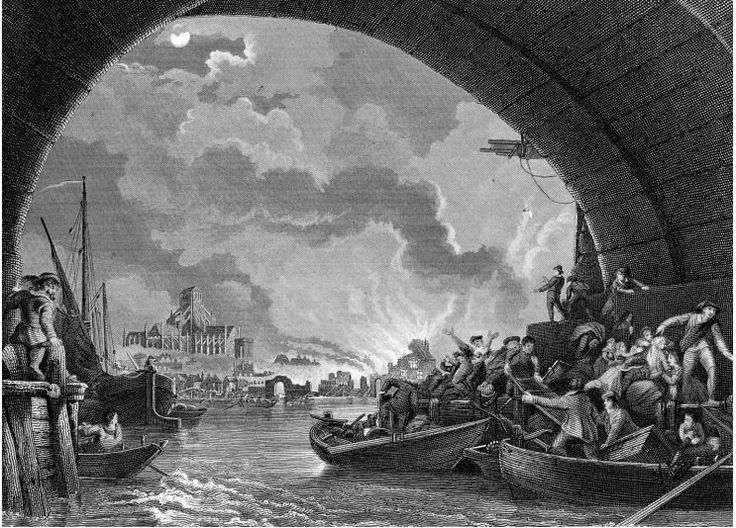 A set of images from the Encyclopedia Britannica that can be used when teaching about the Great Fire of London.