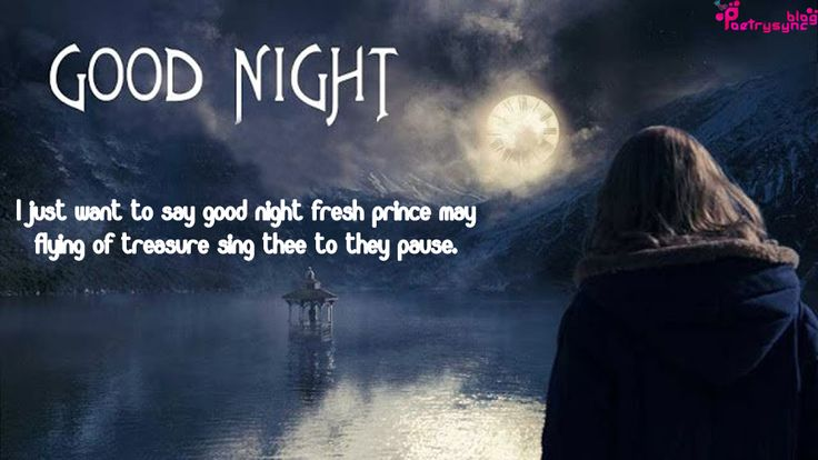 Good Night Wishes Messages with Night Moon Pictures | Poetry