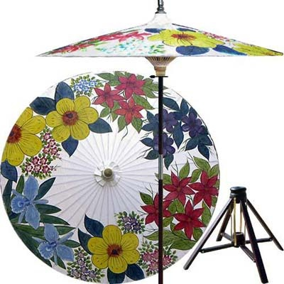 Outdoor Patio Umbrellas :: Eastern Bouquet (Beijing White)