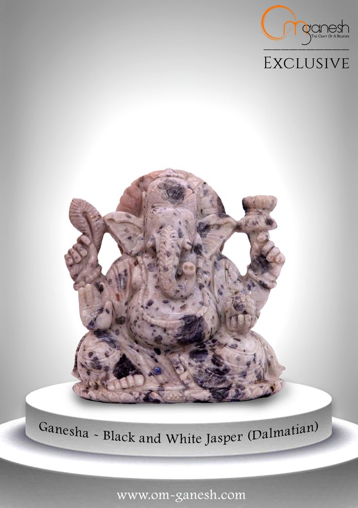 Have faith in Him, He has come to your home in a Black and White Jasper idol to protect you and your family, courtesy of Om Ganesh Crafts.