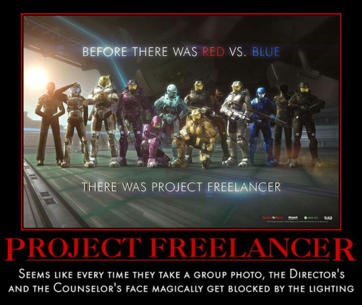 Red vs Blue Project Freelancer by NoctusInfinity