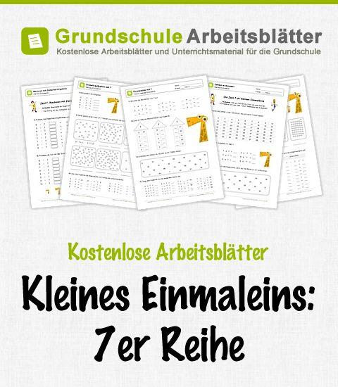 Kostenlose Arbeitsblätter und Unterrichtsmaterial zum Thema Kleines Einmaleins: 7er-Reihe im Mathe-Unterricht in der Grundschule.