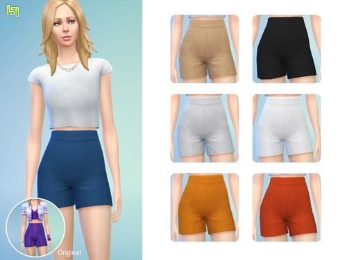 The Sims 4   LumiaLover Sims high-waisted shorts separated   new ...