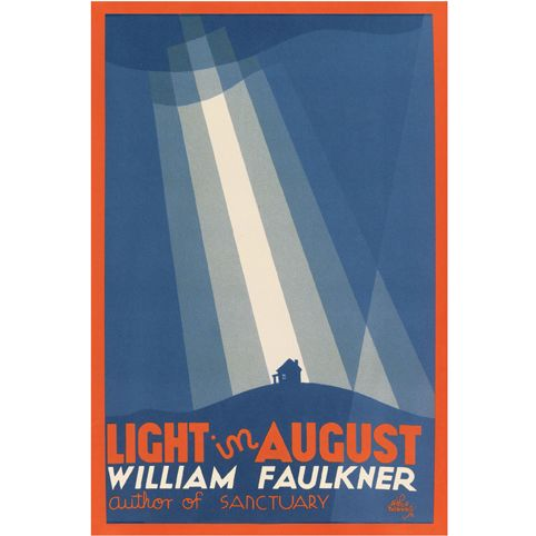 Poster - Light in August by William Faulkner. The Beautiful 1932 First Edition cover design