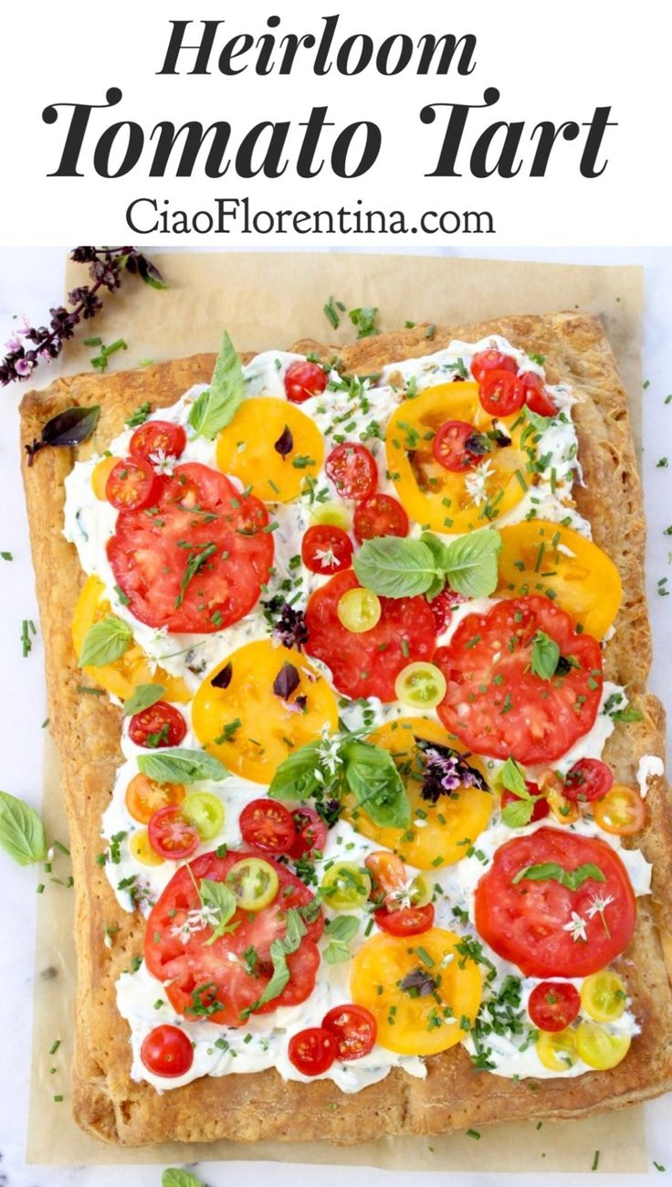 Puff Pastry Tomato Tart with Whipped Goat Cheese | CiaoFlorentina.com  @CiaoFlorentina