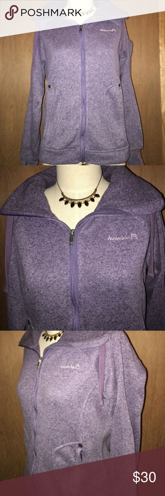 Avalanche Purple 💜 Zip Up Jacket Amazing condition!!! Perfect for the chilly weather. Pockets have zippers. 100% Polyester. Avalanche Jackets & Coats