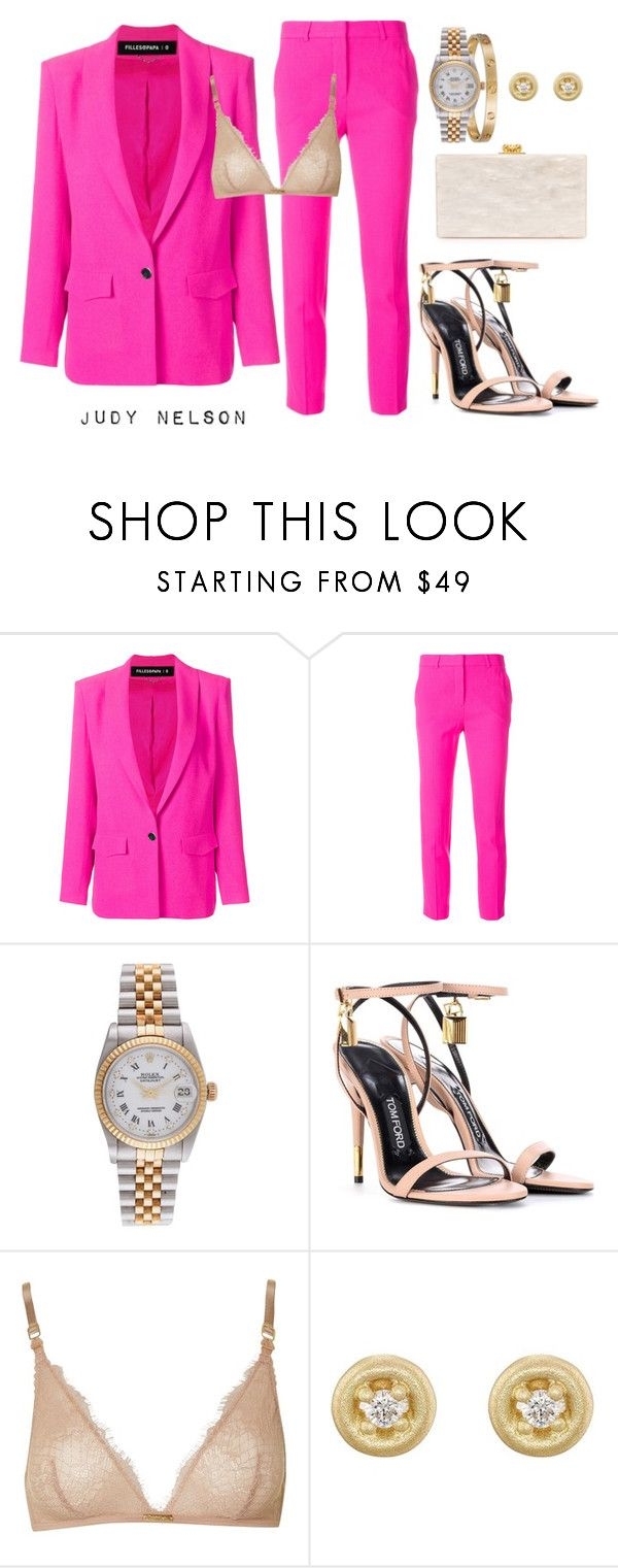 """""""#57 Pink & Nude"""" by judyn7 ❤ liked on Polyvore featuring Filles à papa, Rolex, Tom Ford, Calvin Klein, Tate and Edie Parker"""