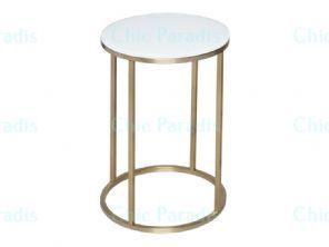 Buy Strassen White Or Black Glass Side Table