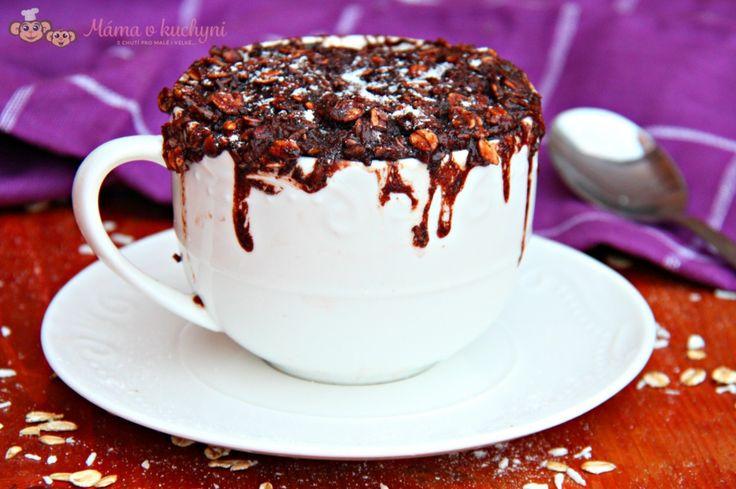 Kakaovo-kokosový mugcake pro děti od 2 - 3 let