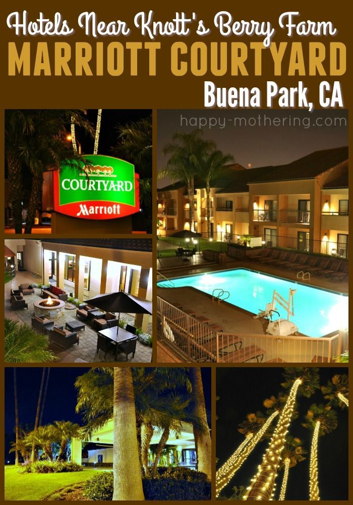 Are you looking for hotels near Knott's Berry Farm? The Marriott Courtyard Buena Park is just down the street. It's clean, comfortable & has great service.