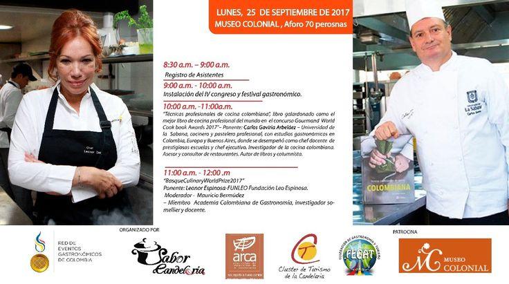 Mejores Chef's!!  LEONOR ESPINOSA y CARLOS GAVIRIA ARBELÁEZ #EncontrasteLaCandelaria #SaborCandelaria #SaborColombia ️