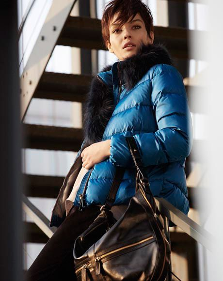 City Options!  Get the look: down jacket IMER, sweater OLEINA, trousers LISBONA, bag PRUA.