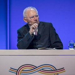Finance Minister Wolfgang Schaeuble gives a talk at the B20