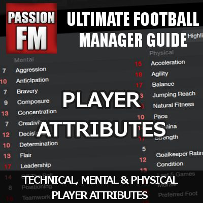 Ultimate guide to the Football Manager 2014 Player Attributes - influence on how good a player will behave in certain match situations, from set-pieces to movements, through interaction with fellow teammates in defensive and attacking situations