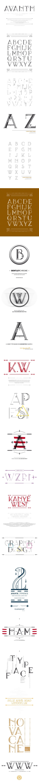 AVANTH typeface by Noem9 Jose Garrido, via Behance. Love the details.