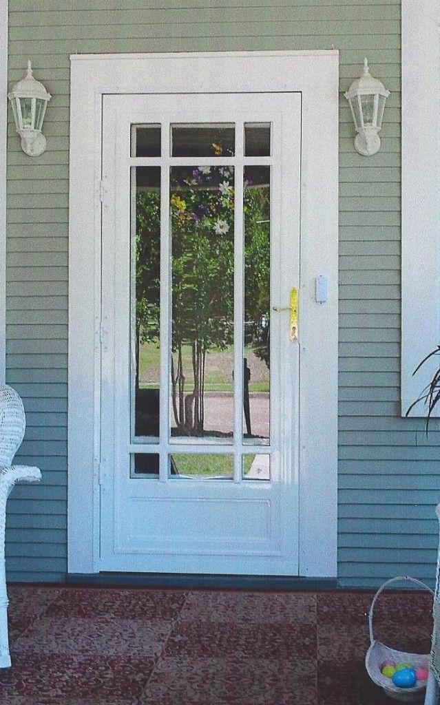 Example of Storm door with panel features and we can do a different solid front door behind it.
