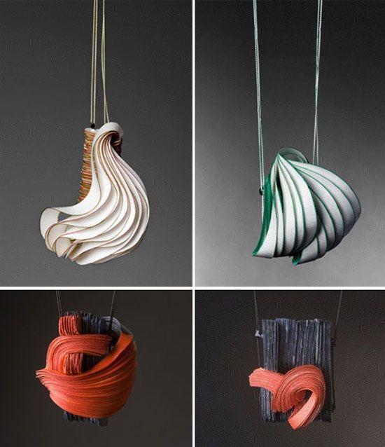 paper sculpture jewelry