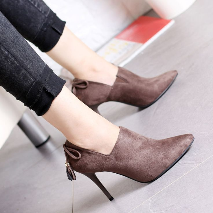 Cheap boots women shoes, Buy Quality shoes ankle directly from China ankle boots high heels Suppliers: Pointed Short Boots Women Shoes Ankle Boots High Heel Shoes For Woman Sy-2161