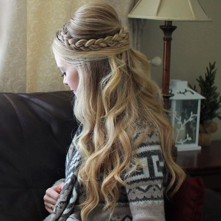 Braided+Half+Updo+With+A+Bouffant