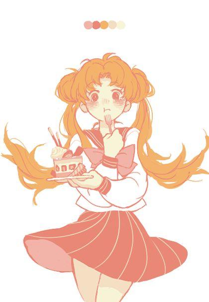 Resultado de imagen para usagi tsukino fan art