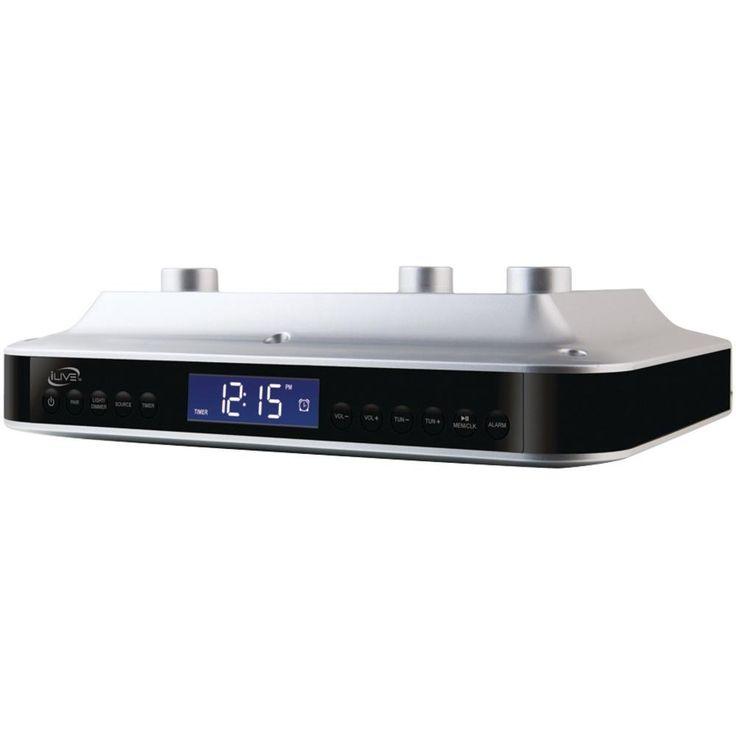ILIVE iKB333S Under-Cabinet Bluetooth(R) Digital Radio