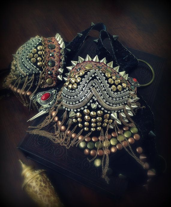 Spiked Gothic Tribal Fusion Bra