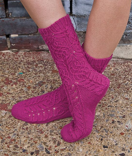 Ravelry: Twisted Flower Sock pattern by Cookie A