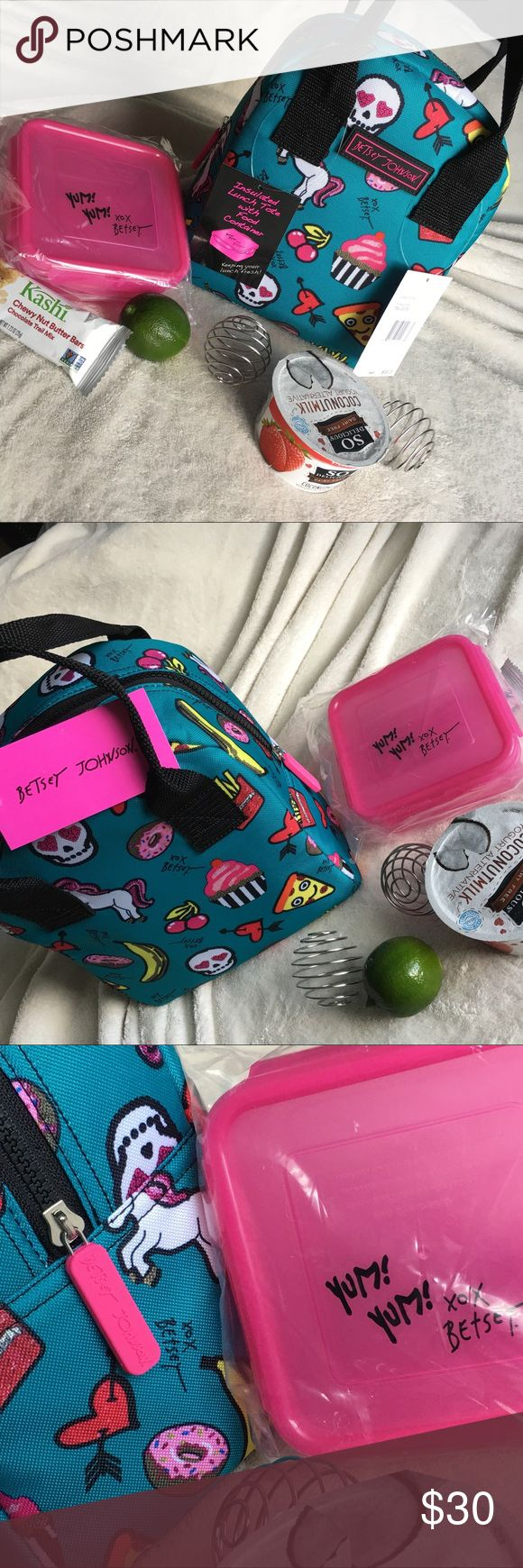 """Betsey Johnson Lunch Tote Betsey Johnson Lunch Tote 