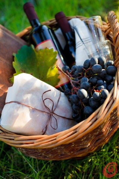 Winery picnic basket essentials - A wine picnic is always allowed, whatever the weather!!
