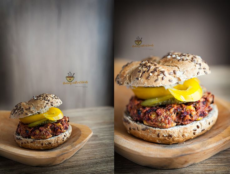 Beetroot and chickpeas burger