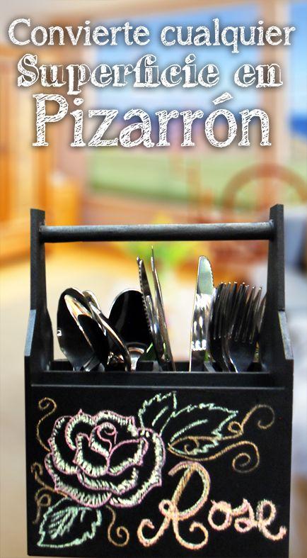 Convierte cualquier superficie en pizarrón / Utensilios de cocina / Decoración para el hogar / Pintura para Pizarrón