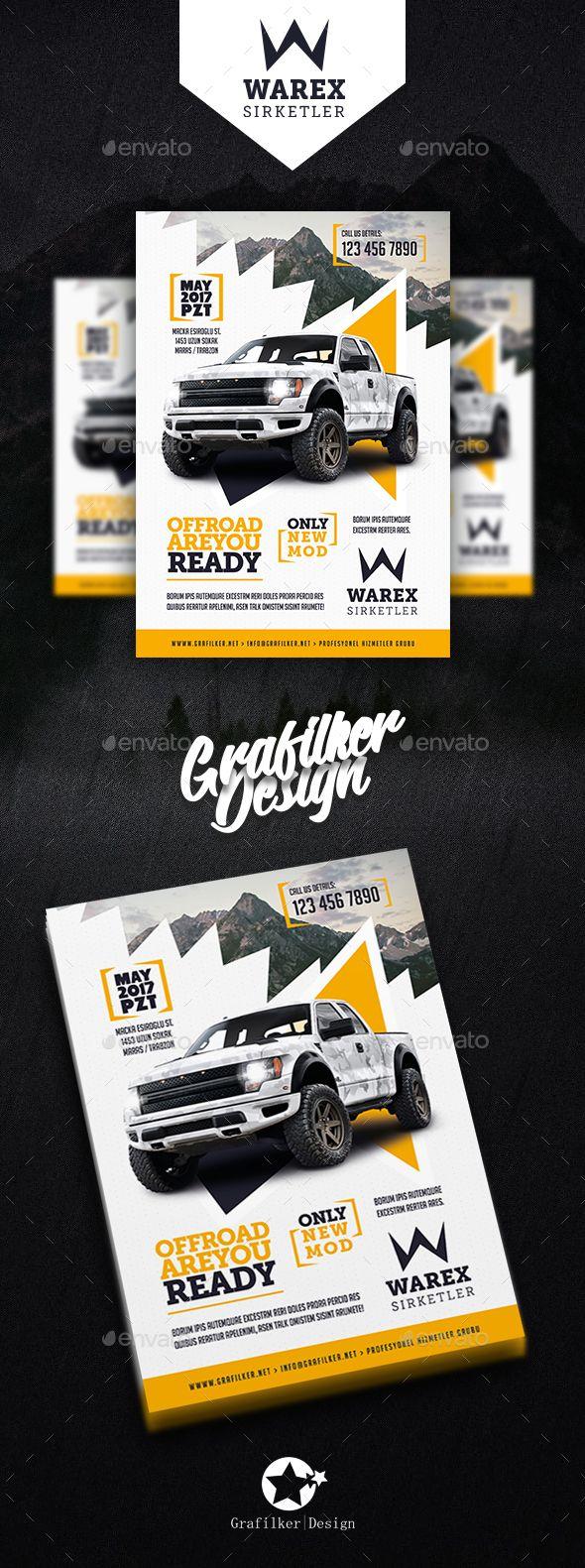 Car Sales Flyer Templates - Corporate #Flyers Download here: https://graphicriver.net/item/car-sales-flyer-templates/20156589?ref=alena994