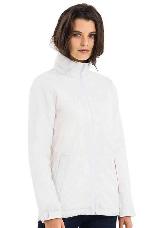 Jachetă damă Multi-Active B&C Collection din 100% poliester (tafta matlasată), rezistentă la apă şi vânt #jachete #geci #personalizare #brodare #serigrafie #firme #companii