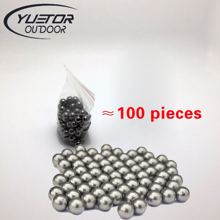 Bran Yuetor Hot sale 100pcs/lot 8mm pocket shot outdoor Hunting Slingshot Pinball Stainless ammo Steel Balls