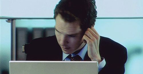 "When I hear someone say ""Benedict Cumberbatch"" [gif] - Imgur <-accurate"