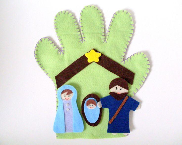 Luva de Histórias Bíblicas <br>- Nascimento de Jesus.