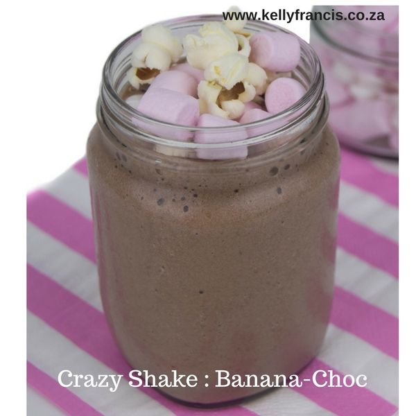 A crazy shake to celebrate Roald Dahl's 100th Birthday {Kids Banana & Chocolate Smoothie} by www.kellyfrancis.co.za