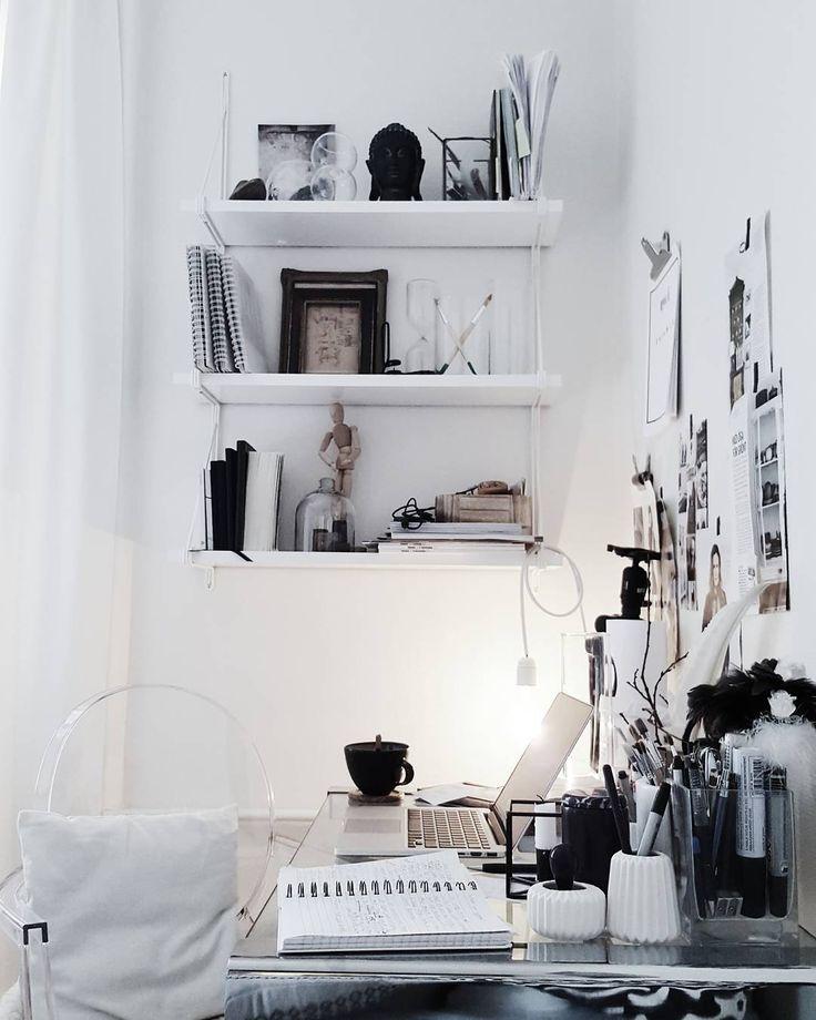 Ikea 'Ekby/Gällö ' wall shelf | Moodboard on the wall ...