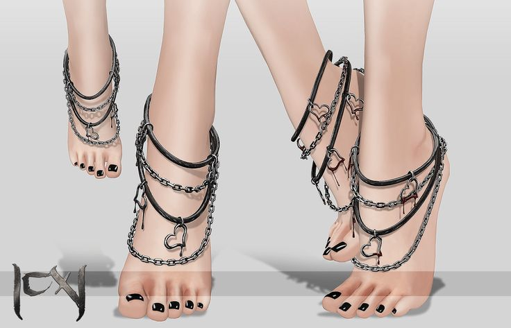 |CX| Melted Heart Feet Chains