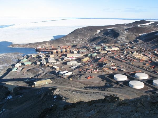 McMurdo Station, Antarctica. I mostly want to go there since that's where the research on Mt. Erebus is based out of.