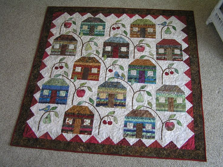 Farmhouse Quilt made by Ann Marie  (Pattern by Edyta Sitar) Laundry Basket Quilts quiltingboard