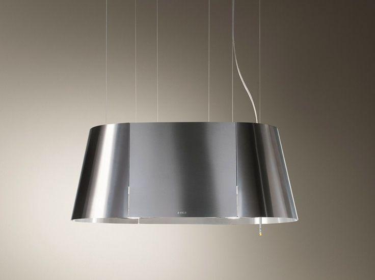 Inselhaube aus Edelstahl mit integrierter Beleuchtung TWIN by Elica | Design Elica Design Center