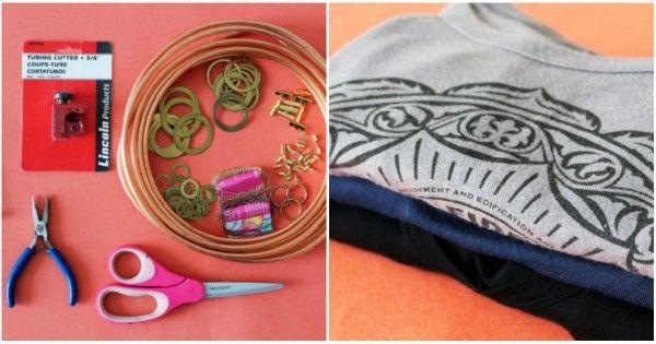 15 способов превратить старые футболки в стильные украшения.