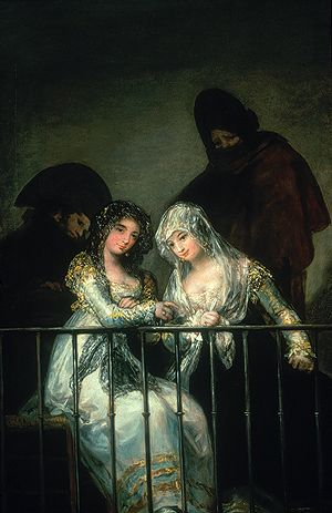 Majas on a Balcony  Attributed to Francisco de Goya y Lucientes