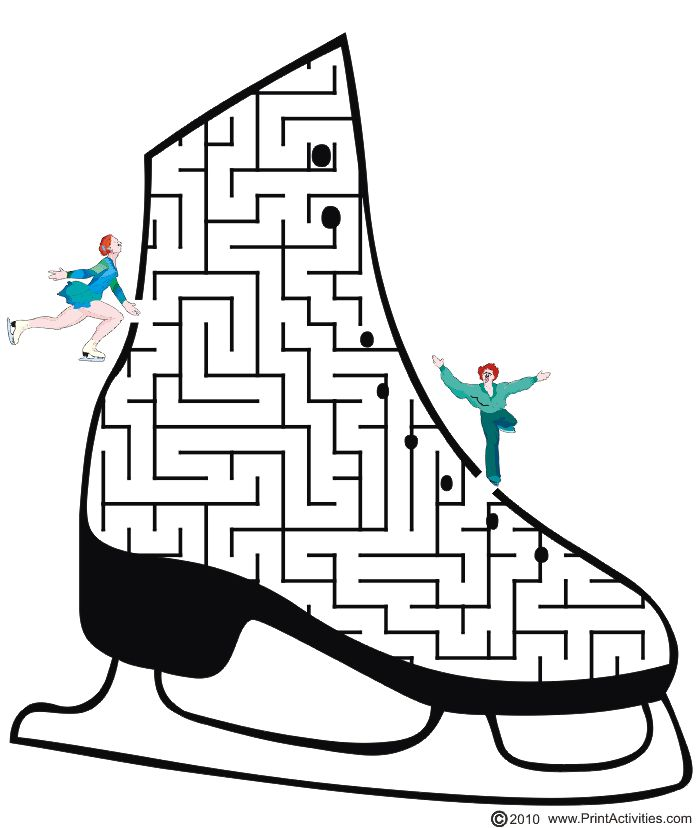Figure Skating Maze: Get the figure skater to her partner.