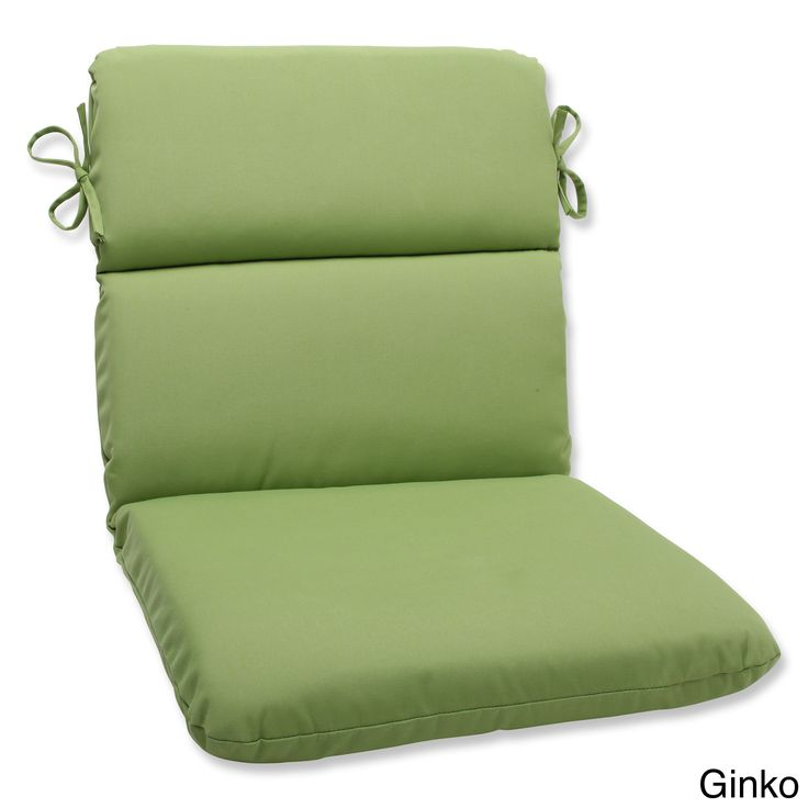 Pillow Perfect Outdoor Solid Rounded Corners Chair Cushion With Sunbrella Fabric