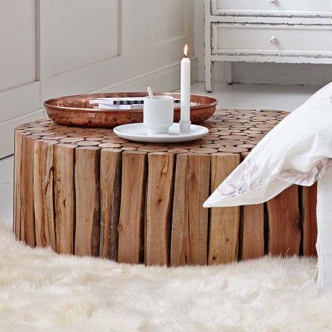 Couchtisch Aus Naturbelassenen Asten Und Holz Dom Pinterest